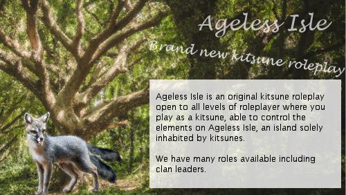 Ageless Isle: Kitsune Roleplay Advert